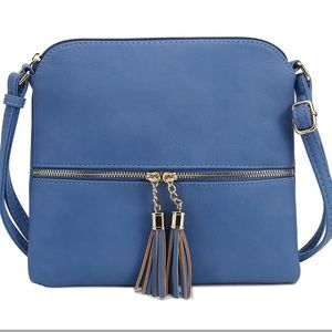 NWT! Deluxity LA Tasseled Flat Mini Crossbody Bag